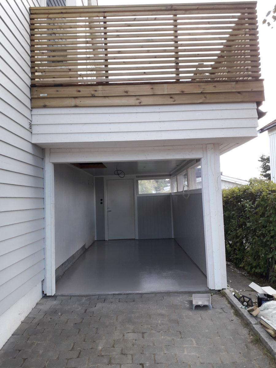 Gulv i garasje med epoxybelegg 2
