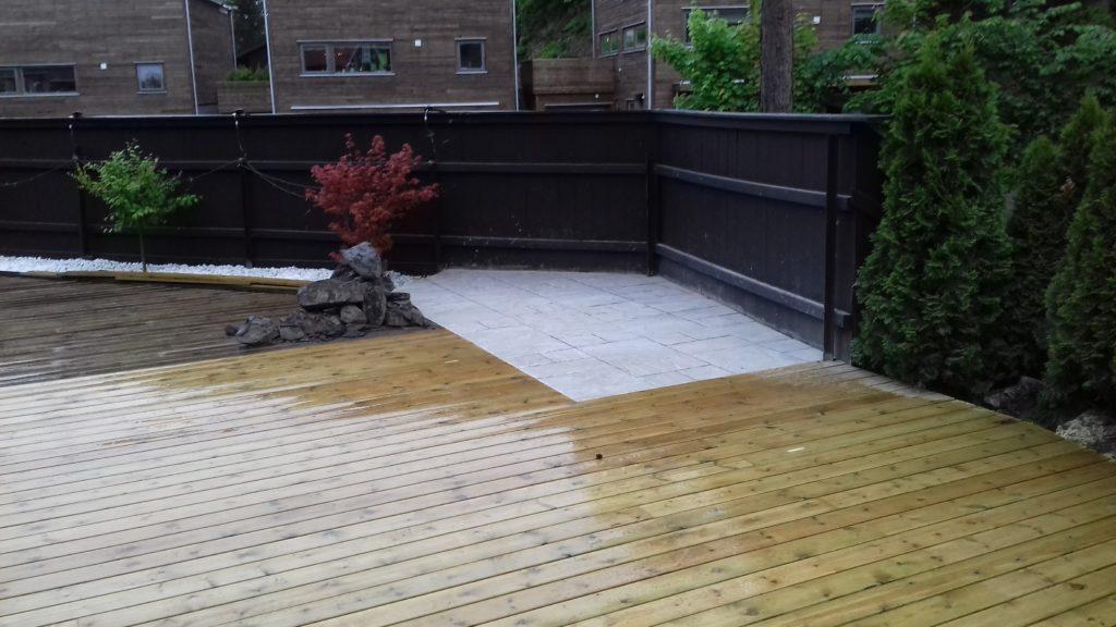 Utvidelse av terrasse med fliser