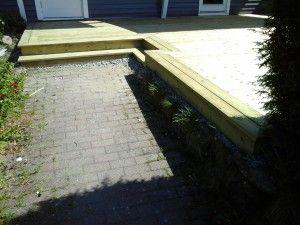 terrasse med ramme