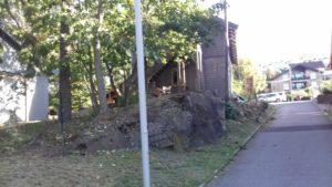 Gjerdet i furutre med betong fundamenter 3