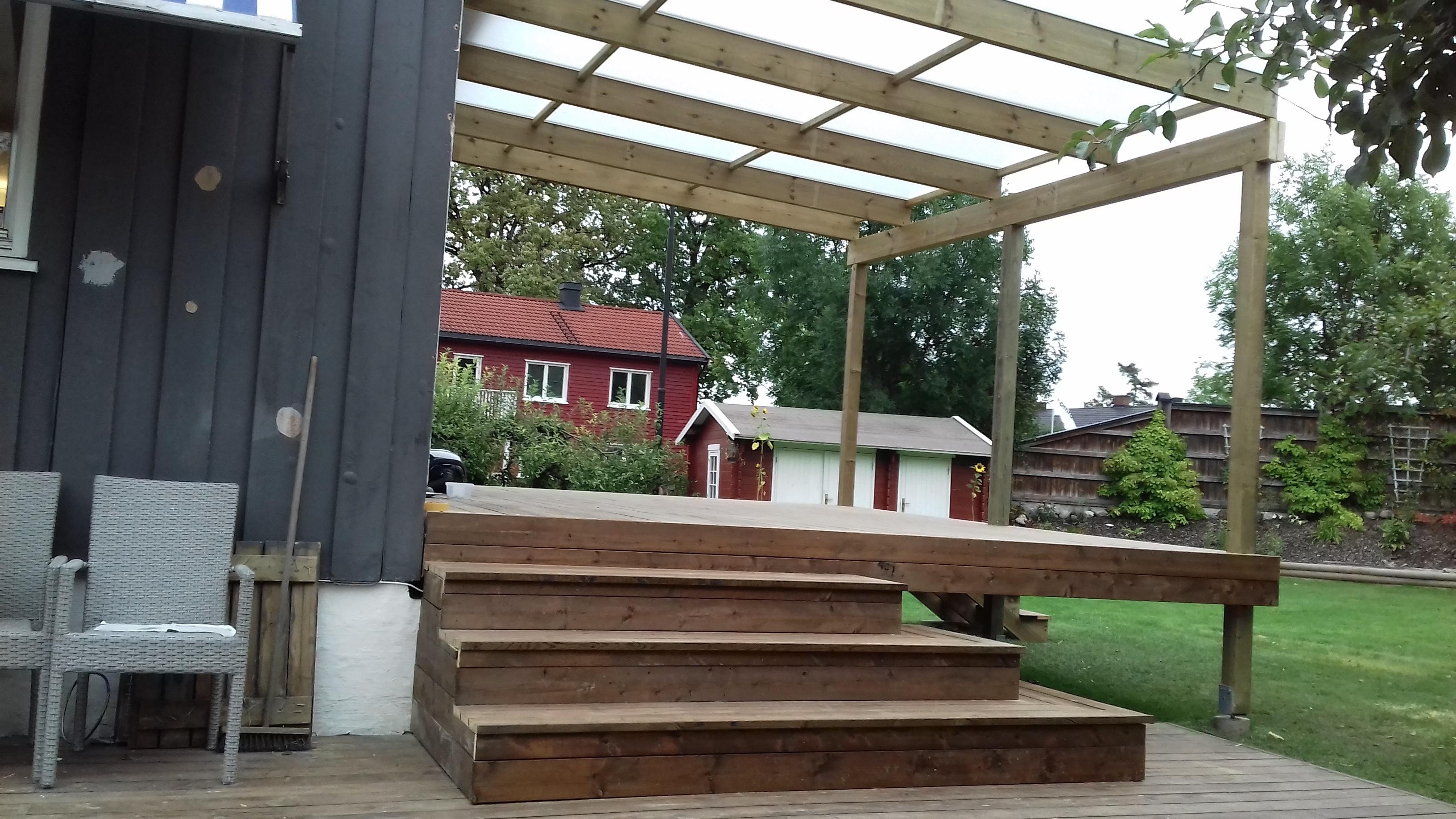 plast tak over veranda